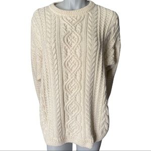 Natural Resources Cotton Fisherman Knit Sweater M